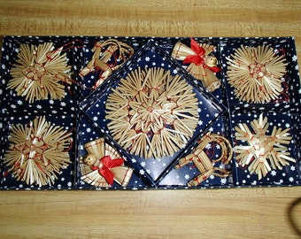 Scandinavian Straw Ornaments - Box of 28 pieces - #H1-501