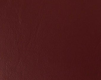 """Burgundy Faux Leather Upholstery Vinyl 54"""" wide (20 Yard Roll)"""