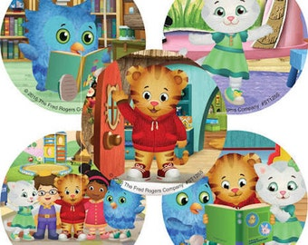 15 Daniel Tiger's Neighborhood Stickers Party Favors Teacher Supply Katerina Kittycat O the Owl - FREE SHIPPING