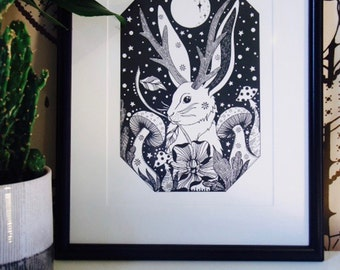In The Moonlight - giclée print