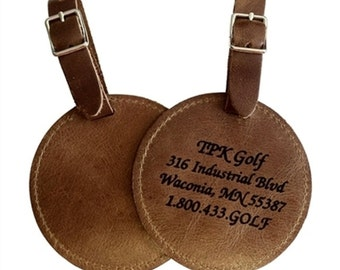 100% Leather Bag Tag: Personalized (1)