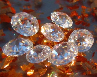 Double-Sided Rose Cut Classique Moissanite from Julia B Jewelry