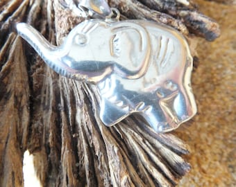 Sterling Silver Elephant and Chain