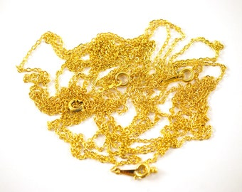 4x Gold Plated Soldered Cable Chain Finished Necklace - C033