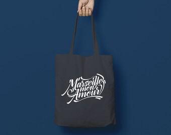 "Tote bag ""MARSEILLE MY LOVE"" Tote Bag - grey / Grey"
