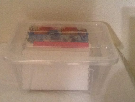 Fat Quarter Storage Boards Plastic Box With A Set Of 20