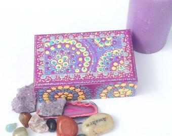 Mandala Inspired Jewellery Box Spiritual Gift Wooden Gifts For Teachers Girls Keepsake Gifts Magical Gifts Jewellery Storage