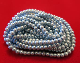 "200pc ""light blue"" imitation pearl spacer bead string (BC1195)"