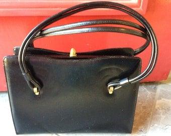 Vintage Susan Gail Original Black Kelly Handbag