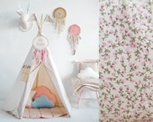 Tente Tipi et tapis /\ Set Teepee and quilted mat /\ Tipi and mat /\ vintage tipi/\ romantic teepee/\ Easter gift/\ birthday gift /\svg
