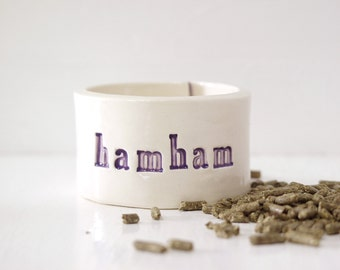 Hamham Hamster Bowl. Very Small Bowl For Very Small Companions.  In Purple.