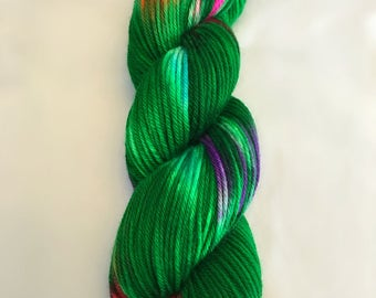 Yarn, Christmas yarn, Christmas tree yarn, SW Merino, Tannenbaum, Dyed worsted, dyed DK, dyed fingering, dyed sparkle sock