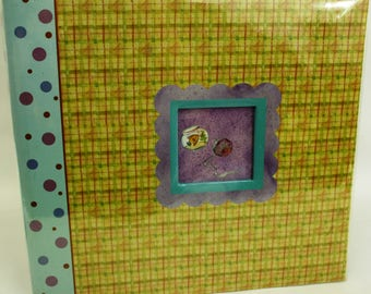 12x12 Bow Wow Meow Checkered Fish Bowl Scrapbook
