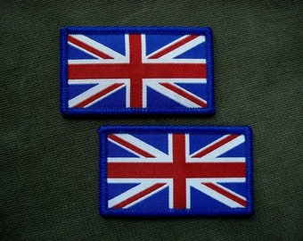 Set of 2 Flag of the United Kingdom woven patches
