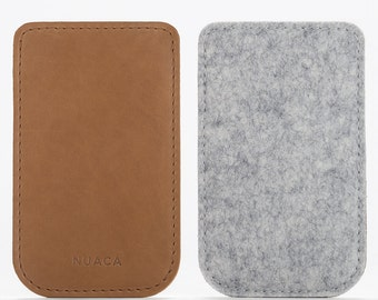 Leather Sleeve iPhone 5 and 5s - iPhone Case - iPhone Cover - iPhone 5 Leather - iPhone Felt Cover - Cell Phone Case - Felt leather Case