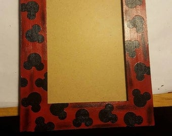 Mickey mouse wooden picture frame