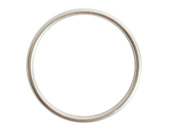Large Open Frame Hoop - Antique Silver (plated)