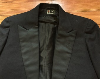 Vintage 1920s House Of Kuppenheimer Black Tuxedo Tail Jacket and Vest 38
