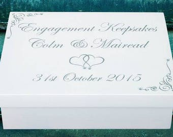 Engagement Keepsake Box