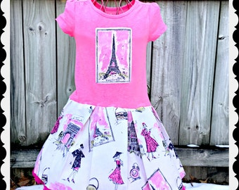 girls PARIS dress 4/5 6/6X 7/8 10/12 14/16 ready to ship