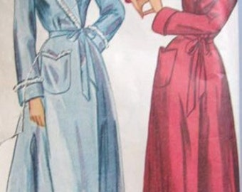 Vintage Simplicity Pattern 2236 Robe from 1947 Rare HTF Size Bust 42 Hip 45