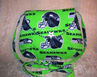 Seattle Seahawks shoulder strap purse - Style: Sara  - larger version of Sarica
