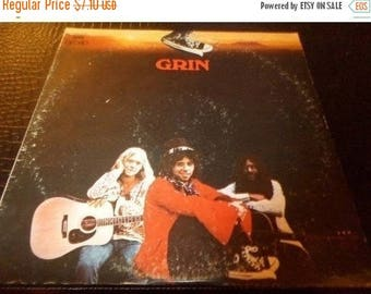 Save 30% Today Vintage 1971 Vinyl LP Record Grin Self Titled Nils Lofgren CBS Records Very Good Condition