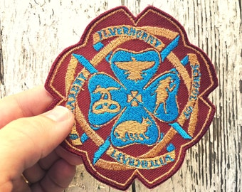 Ilvermorny School of Witchcraft and Wizardry Crest Embroidered Iron-On Patches