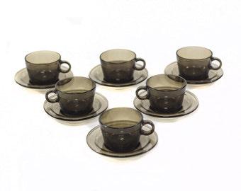 30 % OFF (UNTIL March 20) Set 6 Cups Vintage Vereco France 70's