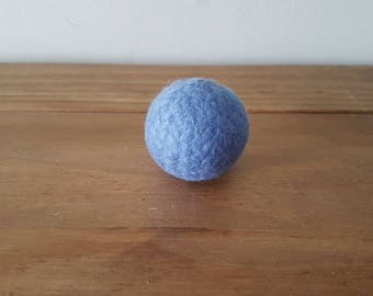 Large felted wool ball, cat toy , kitten toy , felted uk ,blue