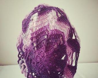 Pink&Purple Slouchy Boho Beanie