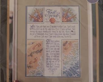 Bucilla Counted Cross Stitch Kit  Footprints