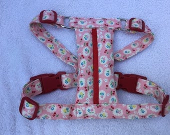 Cath Kidston Design Cherries and Flowers Dog Harness