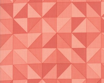 1/2 Yard - Spectrum Ombre - Half Square Triangle - Persimmon - V and Co - Vanessa Christenson - Moda Fabrics - Fabric Yardage - 10860-13