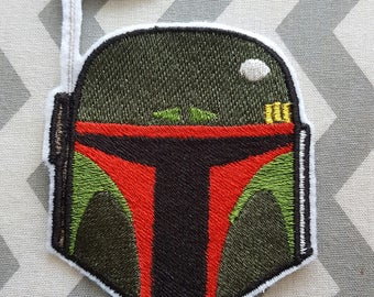 Star Wars Boba Fett  Iron on No Sew Embroidered Patch Applique