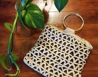 Vintage Crochet // Macrame Purse // 1970's