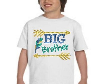 Sibling Shirts/Arrows/BIG Brother T-Shirt/Big Brother/Family Matching Shirts/Coming Home Shirts/Embroidered Shirt/Arrows Shirt/Boy/Arrows