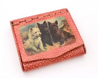 German Cigarette Case Scottie Dogs, Vintage Cigarette Celluloid Germany Scottish Terrier, Vintage Scotty Dogs Westie, West Highland Terrier