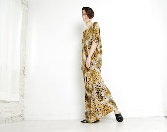 safari caftan dress