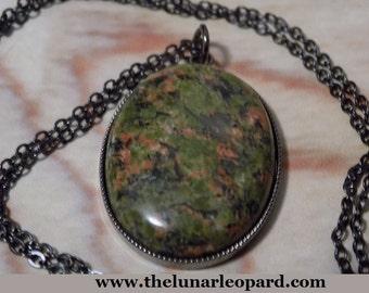 Dragon Egg Unakite Gemstone Necklace