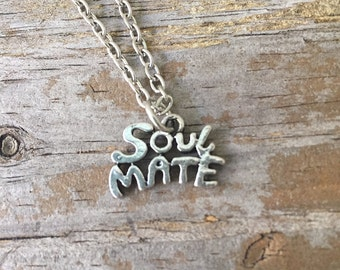 Soulmate Necklace/ Soul Mate Necklace/ Soulmate Choker/ True Love Charm/ Love Necklace/ Best Friend  Necklace