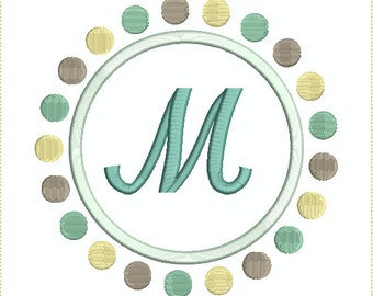 Applique Dot Frame for Machine Embroidery - 9 Styles and Sizes!