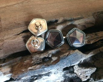 Antique Polygon Cuff Links