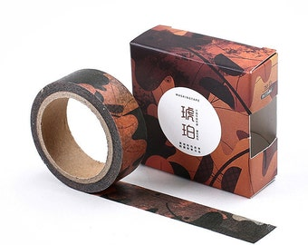 Washi Tape - Autumn Dry Leaves deco washi tape - Japanese masking tape, planner stickers, decorative stickers