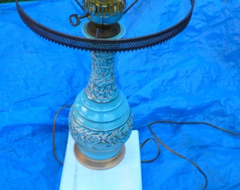Beautiful Vintage Antique Table Lamp. Good socket and switch.