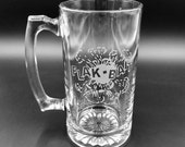 Flak-Bait Beer Glass - Flak Bait Glass Beer Stein - Beer Mug - World War II Bomber Glass - Sandcarved Flak-Bait Mug - Engraved Beer Stein