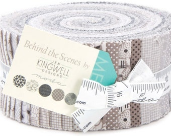 Behind the Scnes Jelly Roll 40 2.5-inch Strips Moda Fabs~Fast Shipping,JR339