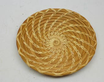 Vintage  Papago Basket - Native American Basket - Vintage Indian Basket