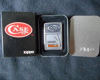Ultra Rare Zippo Lighter Case Knives Knife Mint  Zippo Lighter Super Rare Case Knife Trapper Zippo Lighter Only 250 Made This one Is # 38