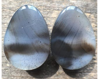 "22mm (7/8"") dendritic agate tear drops"